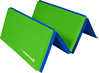 We Sell Mats 4 ft x 8 ft Gymnastics Mat, Folding Tumbling Mat, Portable with Hook &..
