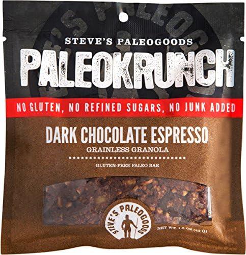 Steve s PaleoGoods PaleoKrunch Bar Dark Chocolate Espresso 1 5 oz Pack of 12 product image