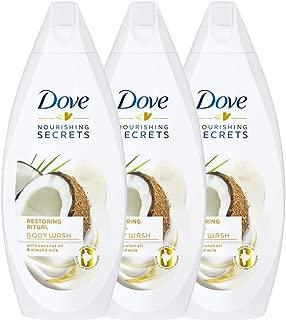 Dove Restoring Ritual, Coconut Oil and Almond Milk Body Wash - 3 Packs x 16.9 Fl.Oz / 500ml Ea