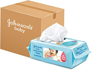 Johnson's Baby Messy Time Wipes, 80 ct (Pack of 12)