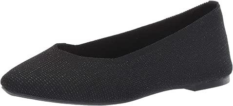 Skechers Women's Cleo-Skokie-Metallic Engineered Knit Skimmer Ballet Flat