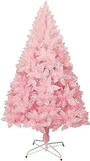 aipipl Arbre de Noël Mince Arbre de Noël de Fleurs de Cerisier en PVC Arbre de Noël Artificiel Rose Assemblage Facile Déco...