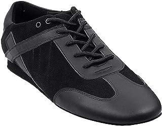 Men`s Ballroom Latin Salsa Sneaker Dance Shoes Leather SERO106BBXEB Comfortable - Very Fine (Bundle of 5)