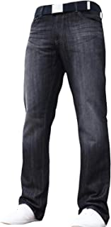 Zico Mens Classic Straight Leg Regular Fit Stylish Denim Jeans All Waist & Sizes Free Belt