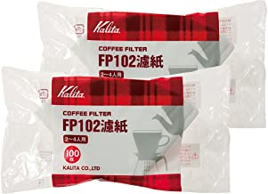 "Kalita""White 2 Bag Set # 13127 [2-4] People For 100 Pieces Filter Paper Coffee Filter Fp102 (Japan Import)"