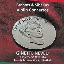 ブラームス : ヴァイオリン協奏曲 | シベリウス : ヴァイオリン協奏曲 (Brahms & Sibelius : Violin Concertos / Ginette Neveu | Philharmonia Orchestra | Issay Dobrowen | Walter Susskind)