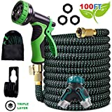 Best Expanding Garden Hoses - Expandable Garden Hose - 50FT 100FT Upgraded Strength Review