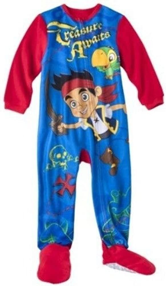 Disney Jake and The Never Land Pirates Footed Sleeper Pajama Boy Size 4T