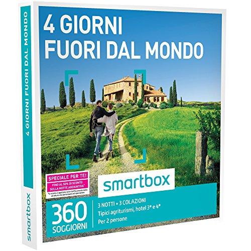 Smartbox - 4 Giorni Fuori Dal Mondo - 360 Soggiorni In Agriturismi e Hotel 3* o 4*, Cofanetto Regalo