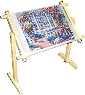 Scroll Frame, 32 CT Cross Stitch Frame Floor Stand Wooden Embroidery Tapestry Hoops 100cm