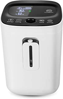 Denshine Portable Touch Screen 1-6L/min, 110V Adjustable Oxygen Concentrator Portable Oxygen Machine with Voice Function for Home Travel