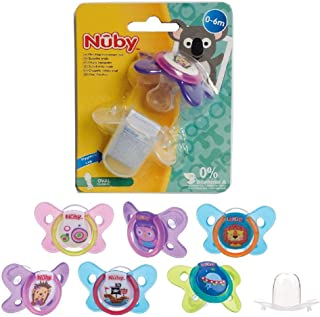 Nuby Butterfly Oval Pacifier, 0-6 Months