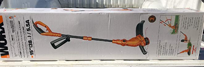 "WORX WG119 15 Electric String Trimmer, 4.9"" x 9.2"" x 38.6"", Orange and Black"