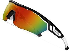 عینک آفتابی ورزشی TOREGE Polarized با 3 عدسی قابل تعویض برای آقایان که دوچرخه سواری در حال دوچرخه سواری در حال رانندگی ماهیگیری گلف بیس بال عینک TR05