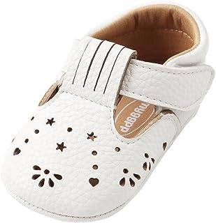 Weixinbuy Infant Baby Girls' Hollow Anti Slip Comfort Sole Mary Jane Flat Shoes