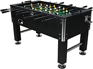 Sunnydaze 55 Inch Durable Foosball Table with Drink Holders, Sports Arcade Soccer for Game Room