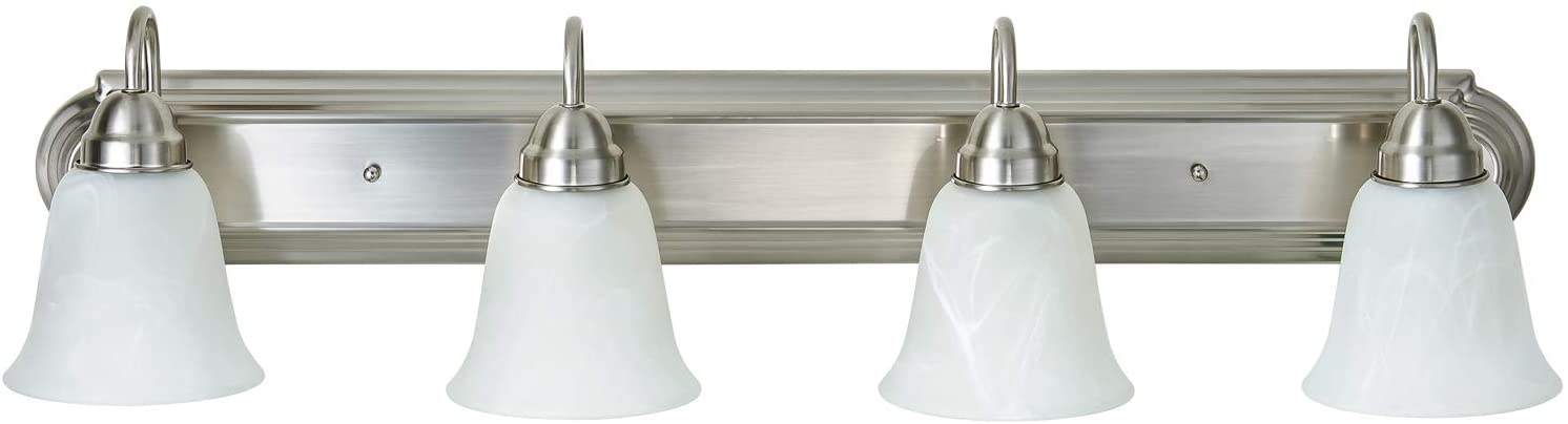 Limited time sale Kingbrite 4 Bulb E26 Minneapolis Mall Vanity Bathroom Fixture Light for Brushed