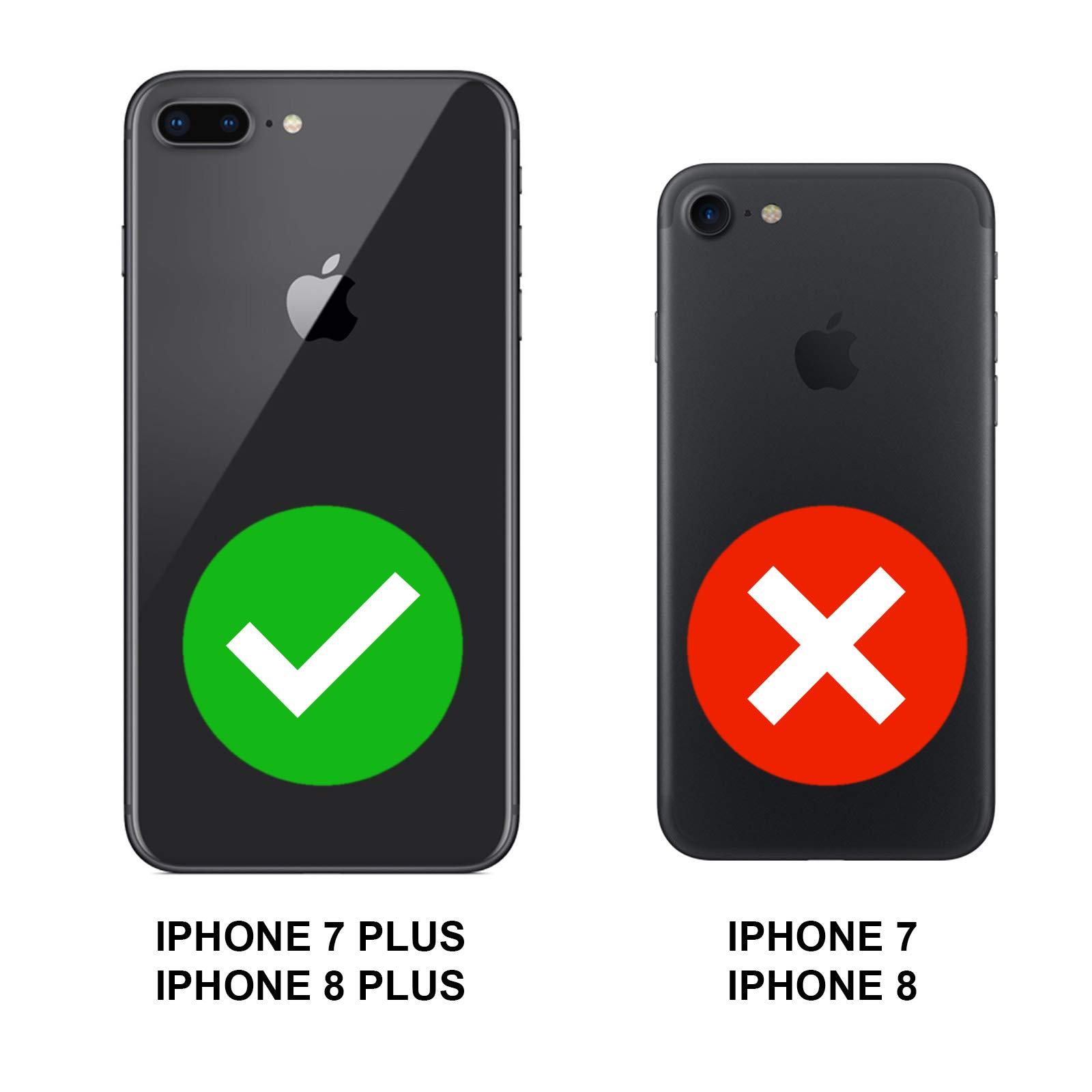 TBOC® Funda de Gel TPU Azul para Apple iPhone 7 Plus: Amazon.es ...
