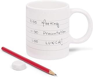 """Thumbs Up Kopp""""Notepad Mug"""" skrivbar keramik 300 ml"""