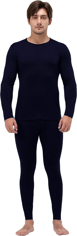 Naturwool Men's 100% Merino Wool John Set Thermal Underwear Base Layer Top and Bottom
