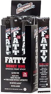 Sweetwood Smokehouse Fatty Meat Stick   Honey BBQ Flavor   20 Pack   2 oz Sticks   USA Grass Fed Beef, Antibiotic Free Por...