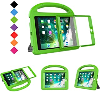 BMOUO Case for iPad Mini 1 2 3 - Built-in Screen Protector, Shockproof Lightweight Hard Cover Handle Stand Kids Case for iPad Mini 1st 2nd 3rd Generation, Green