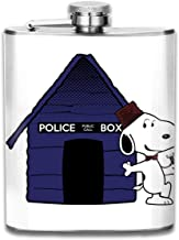 Dr Who Snoopy Tardis Kennel Print Hip Flask Pocket Bottle Flagon 7oz Portable Stainless Steel Flagon