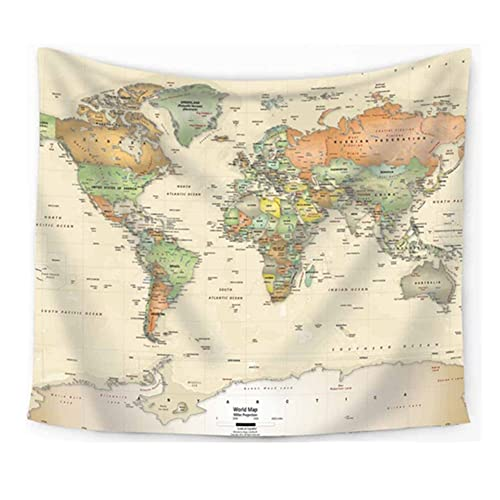 World Map Wall Tapestries World Map Tapestry: Amazon.com