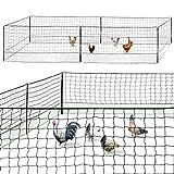 IDMarket - Kit clôture Filet à Poules 12M avec Porte 6 piquets Double Pointe