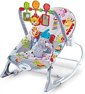 Feemom ロッキングチェア キッズチェア ベビーチェア バウンサー ゆりかご 乗用玩具 出産祝い 1ヶ月から36ヶ月適用 乗り物 おもちゃ 揺れる 新生児 子供 室内(灰色)