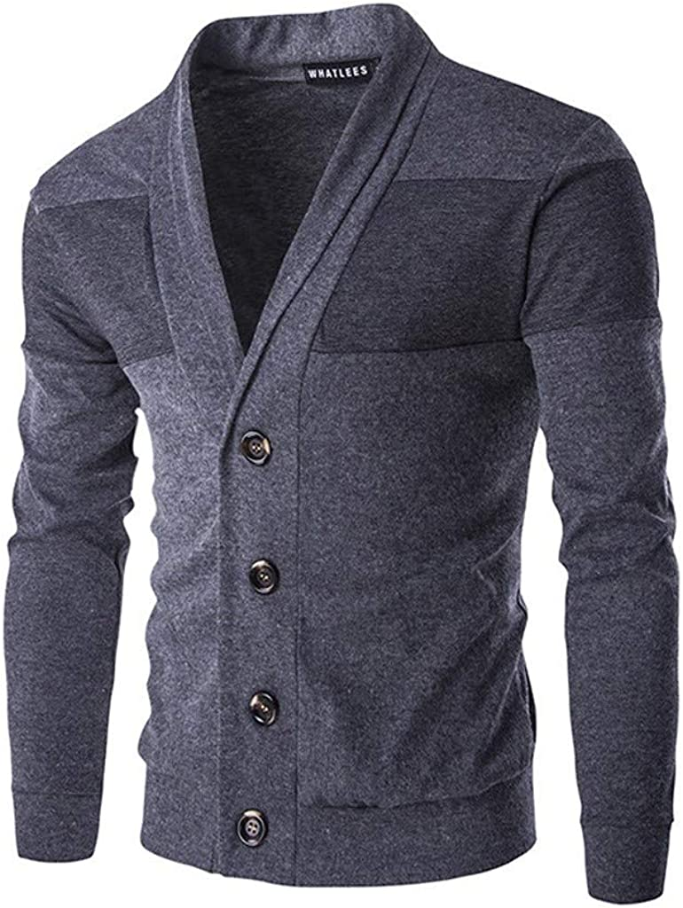 MODOQO Men's Long Sleeve Cardigan Button Sweater Warm Soft Sweatshirt Outwear