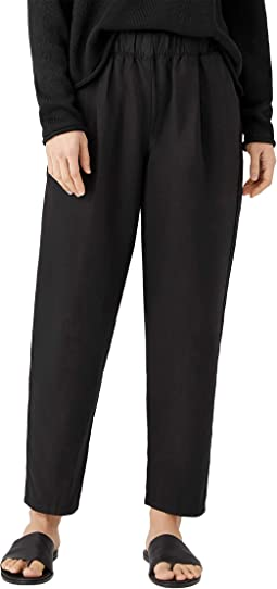 Tapered Ankle Pants in Tencel and Linen