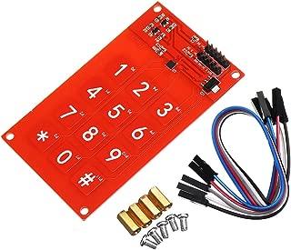 ILS. - MPR121 Capacitive Touch Keypad Shield Module Electronic Sensitive Key Keyboard 3.3V Logic for Arduino
