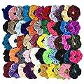 Homerove 54pcs Hair Scrunchies, Velvet Elastic Hair Bands, Scrunchy Colorful Hair Ties Hair Ropes for Women or Girls Hair Accessories - 54 Assorted Colors Scrunchies