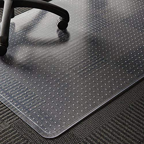 WASJOYE PVC-Stuhlmatte für Teppich, transparente PVC-Tischmatte, groß, 91,4 x 122 cm, mit rutschfester Noppen-Rückseite, Teppichschutz für Zuhause, Büro, Arbeitszimmer