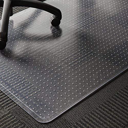 WASJOYE Alfombrilla de PVC para silla de moqueta, transparente de PVC, tamaño grande, 91,4 x 122 cm