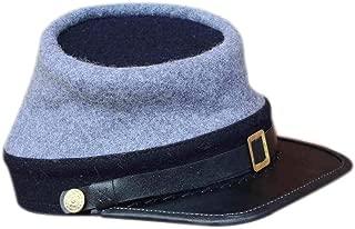 Civil War Confederate Marine Officer Kepi Leather Peak Kepi