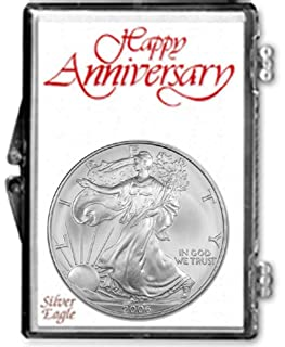 2006-1 Ounce American Silver Eagle in Anniversary Holder Dollar Uncirculated Us Mint