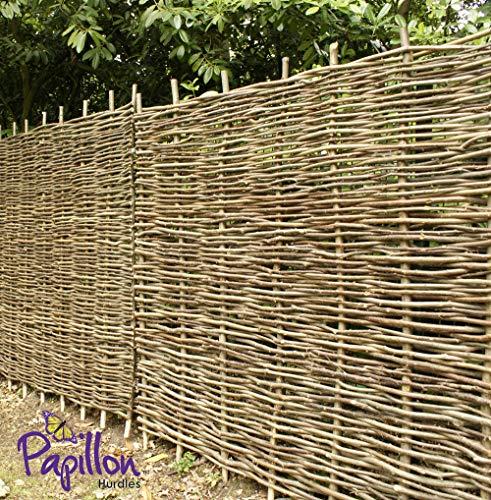 Papillon Premium Hazel Hurdle Woven Wattle Garden Fence Panel 1.8m x 1.5m (6ft x 5ft)