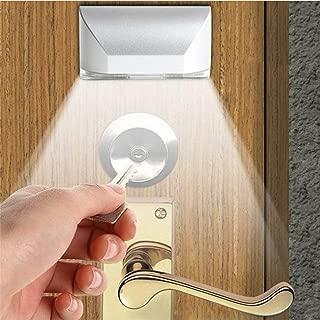 LENMO Keyhole Light Lamp Battery Operated PIR Infrared Wireless Auto Sensor Motion Detector Door Keyhole with 4 LED Light Lamp Tap Lights LED Night Light for Key Hole/Door Lock