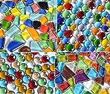 Pietre per mosaico, 410 g, 4 colori diversi Idea regalo, circa 180 pezzi.
