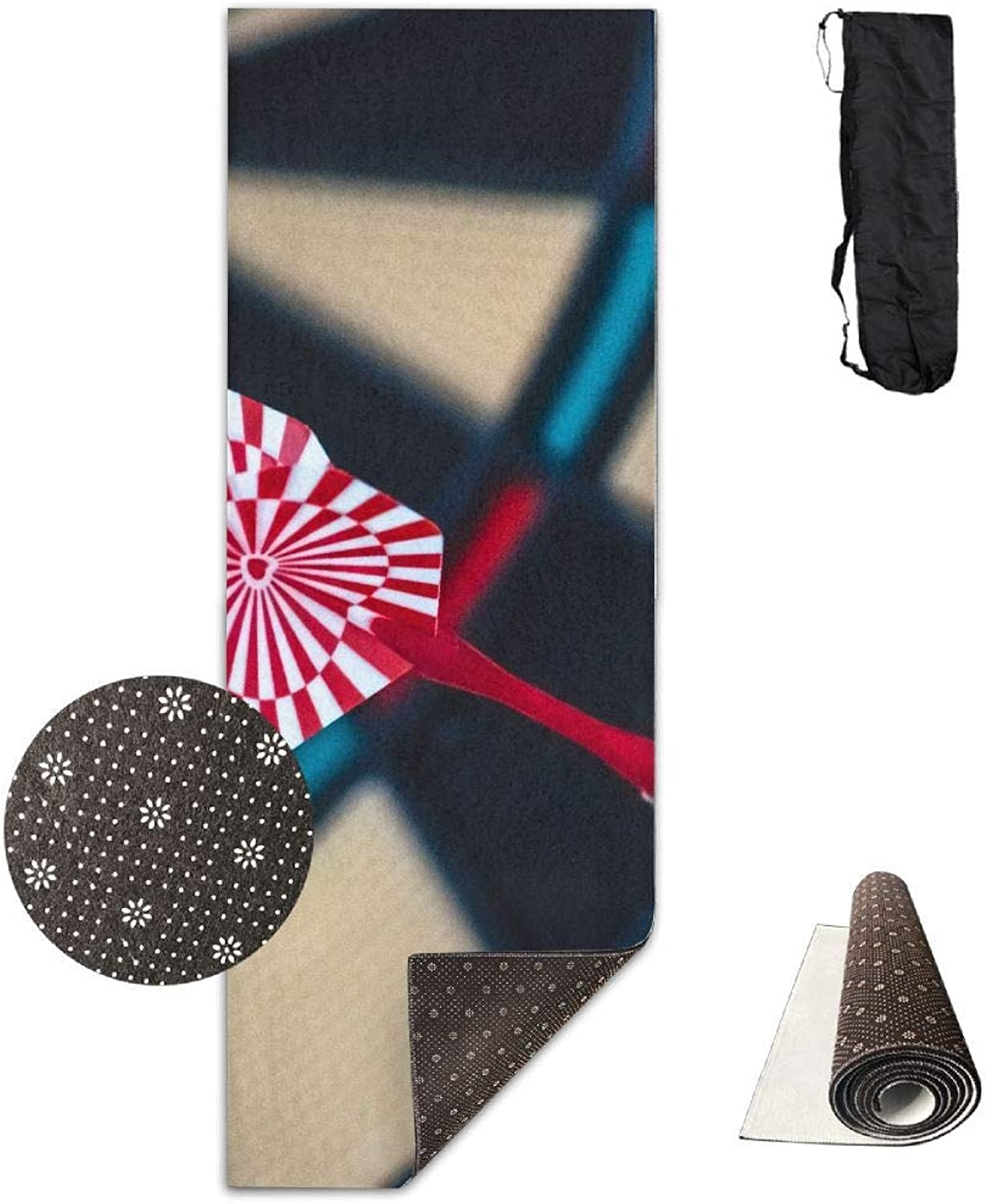 Abstract Accuracy Accurate Aim Yoga Mat  Advanced Yoga Mat  NonSlip Lining  Easy to Clean  LatexFree  Lightweight and Durable  Long 180 Width 61cm