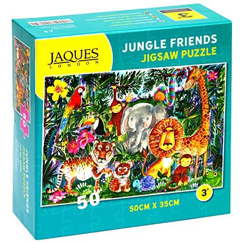 Jaques of London Jungle Friends Jigsaw Puzzle for Kids - 50 Pezzi Jigsaw Puzzle per Bambini - Puzzle raccomandato per Bambini di 4 Anni