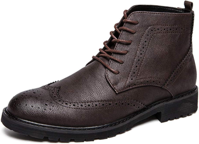 FHCGMX Stivali da Uomo di Moda Stivali da Combattimento Vintage Stivali da Uomo di Alta qualità Stivali da Uomo Neri Impermeabili