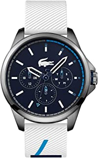 Lacoste Men's Black Dial Silicone Band Watch - 2010980