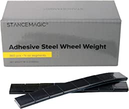 StanceMagic - 0.25oz - Black Adhesive Stick On Wheel Weights (Easy Peel, Low Profile) - Steel (Zinc Plated) - 90oz (5.625 lbs) total, 45 total 2oz strips, 360 total pieces