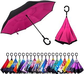 Smart-Brella - The World`s First Reversible Umbrella (Dark Pink)