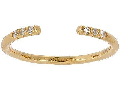 SHASHI Ava Diamond Adjustable Ring (Gold) Ring