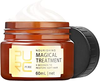 PURC Magical Hair Treatment Mask 60ml, 5 Seconds Repair Dry Damaged Hair Root Hair Tonic Keratin Hair & Scalp Treatment fo...