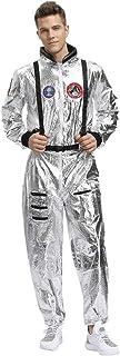 Chándal de Astronauta Espacial Hombre Cosplay Disfraz Jumpsuit Casual Navidad Carnaval Adulto Disfraz Mono Manga Larga Chándal